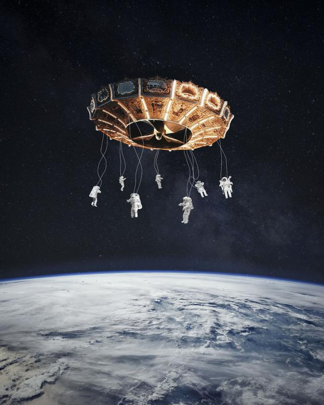 Kwikku, Space Carousel arena hiburan di luar angkasa