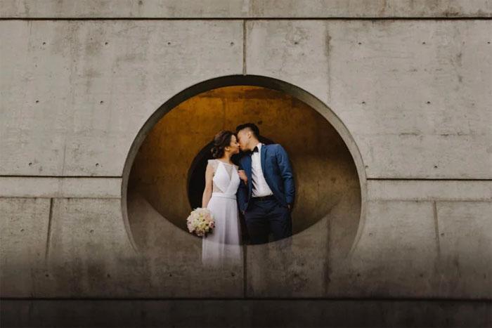 Kwikku, Mathius berhasil menyulap potret pernikahan layaknya fiktif