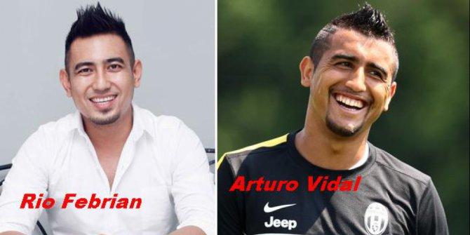 Kwikku, Dari model rambut sampai hitam manisnya sama ya antara Rio Febrian dan Arturo Vidal