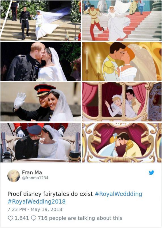 Kwikku, Deretan adegan pernikahan Pangeran Harry dan Meghan Markle yang mirip dengan Cinderella