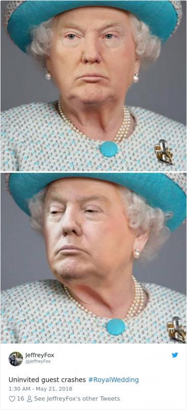 Kwikku, Bonus Trump diamdiam ternyata menirukan gaya Ratu Elizabeth