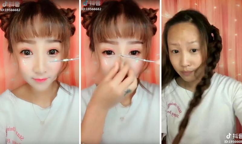 Kwikku, Wajah tampak seperti barbie saat menggunakan make up