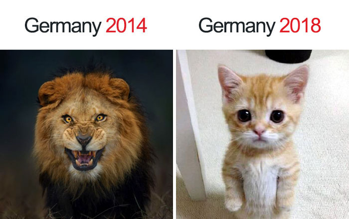 Kwikku, Dulu Jerman dianggap kaya singa sekarang kaya anak kucing