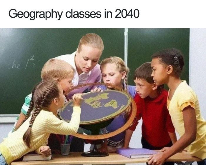 Kwikku, Kalau teori bumi datar terus merajalela bisabisa di tahun  pelajaran geografi kaya gini nih bentuknya