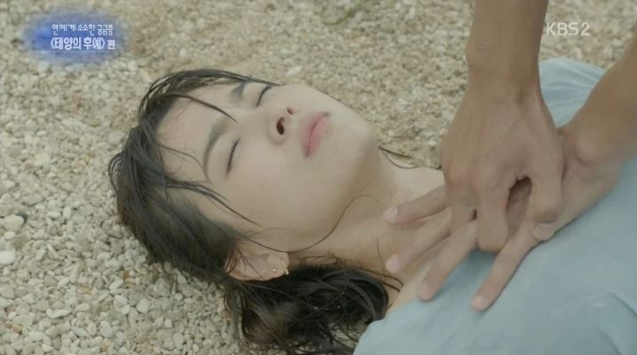 Kwikku, Teknik CPR yang digunakan saat Song Hye Kyo kehabisan nafas dalam serial Descendants of The Sun letak tangan terlalu tinggi
