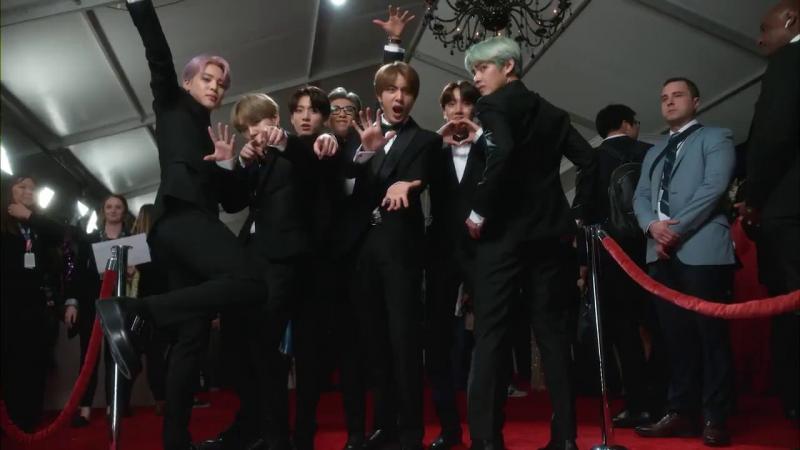 Kwikku, Saat menghadiri Grammy BTS nampak begitu ceria ditambah dengan formasi lengkap yang bikin penampilan mereka makin menakjubkan