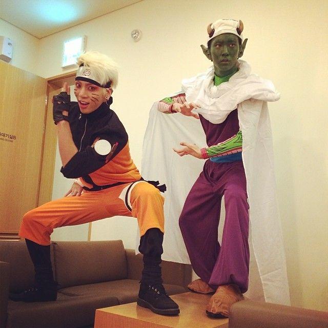 Kwikku, Jonghyun dan Key SHINee  Naruto dan Piccolo