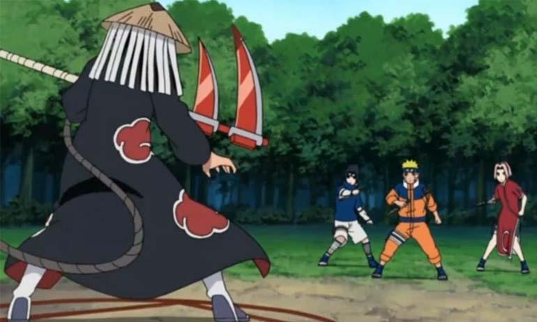 Kwikku, Hidan adalah Akatsuki yang belum pernah sekalipun bertemu Naruto