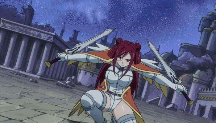 Kwikku, Erza adalah Mage yang bisa bertransformasi dalam keadaan bertarung