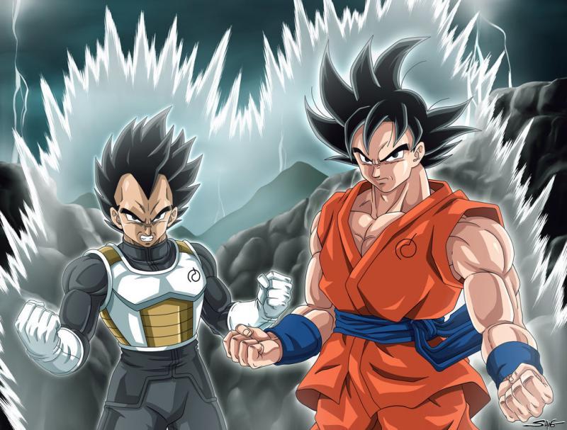 Kwikku, Goku dan Vegeta