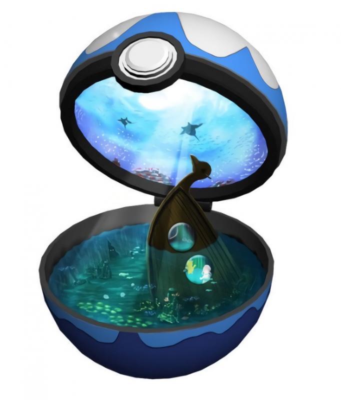 Kwikku, Pokeball Tema Bawah Laut