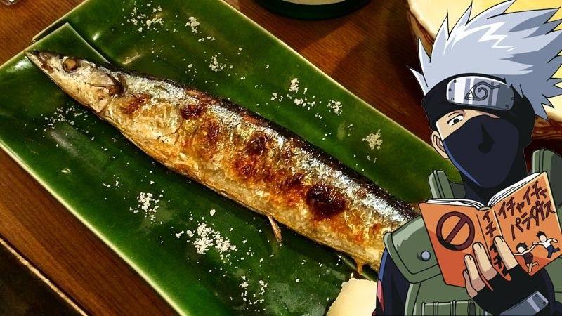 Kwikku, Paket Ikan Sanma Bakar  Terong  Sup Miso  Kakashi