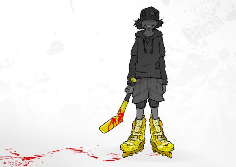 Kwikku, Lil Slugger dari Paranoia Agent