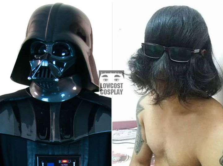 Kwikku, Berubah jadi Darth Vader hanya dengan rambutnya sendiri dan kacamata Luar biasa kreatif ya guys