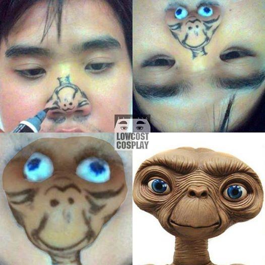 Kwikku, Aliennya dibuat menggunakan hidungnya sendiri Haha yang ngefans berat sama alien ada ya emangnya