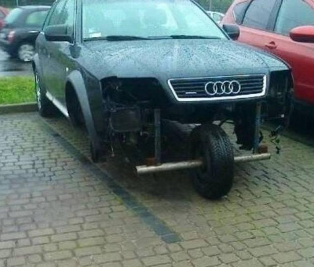 Kwikku, Kalian memiliki kendaraan yang hancur karena kecelakaan  Tetapi belum sempat untuk merenovasi ulang mobil kalian menjadi seperti semula Inovasi di gambar ini menunjukan persis apa yang harus kamu lakukan