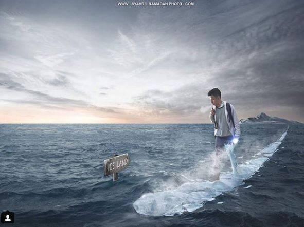 Kwikku, Ajib mentang mentang punya kekuatan es dia jalan kaki di laut untuk pergi ke ice land coy