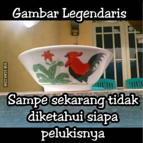 Kwikku, Legendaris Penulis juga gak tau sebenarnya siapa sih pelakor pertama mangkok yang kayak gini Di seluruh indonesia pasti ada mangkok dengan motif yang sama