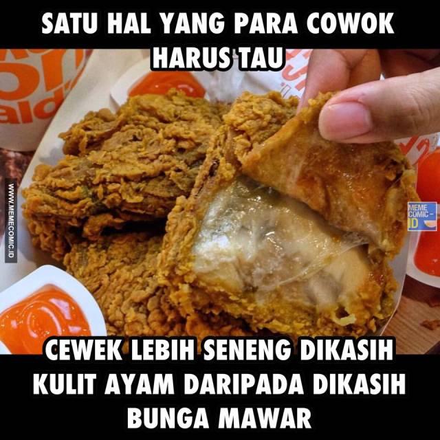 Kwikku, Hayo ngaku hayo ngaku Meme yang satu ini bener gak sih kalo penulis paham betul soalnya kulit ayam KFC memang tiada duanya