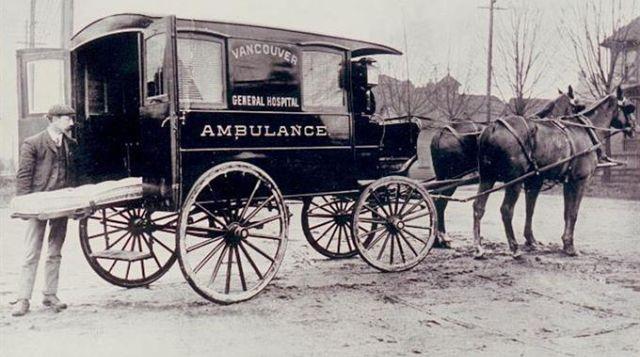Kwikku, Sebelum adanya mesin penggerak Ambulans hanya di tenagai oleh  ekor kuda untuk bisa membawa pasien ke rumah sakit
