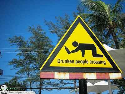 Kwikku, Ternyata ada juga loh penyeberangan khusus orang mabuk Hahaha