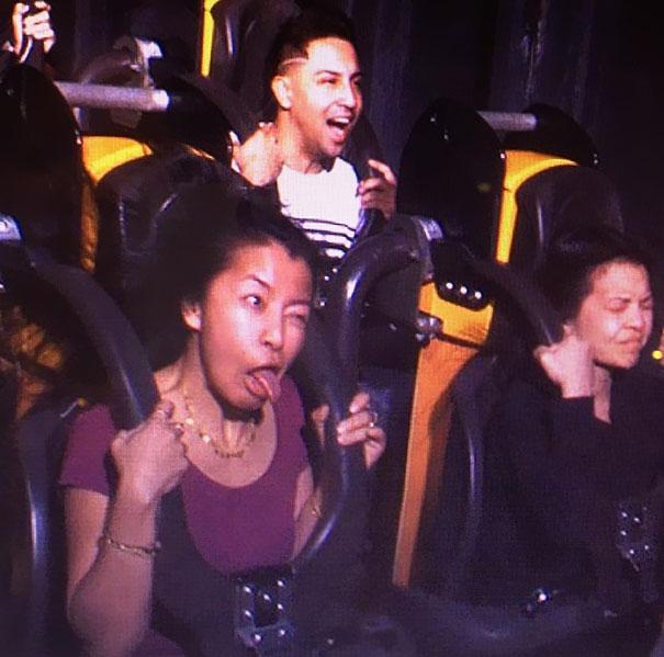 Kwikku, Hayoo Siapa sih di antara kalian yang sering masang ekspresi seperti ini ketika menaiki Roller Coaster