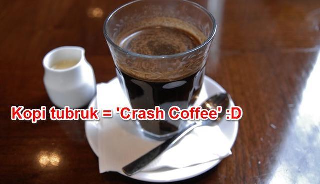 Kwikku, Kopi yang satu ini pasti akan laku keras di negara barat mengingat dengan nama yang sekeren itu Crash Coffee mantap