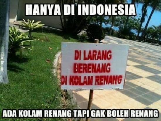 Kwikku, Tentu saja hal ini hanya ada di Indonesia