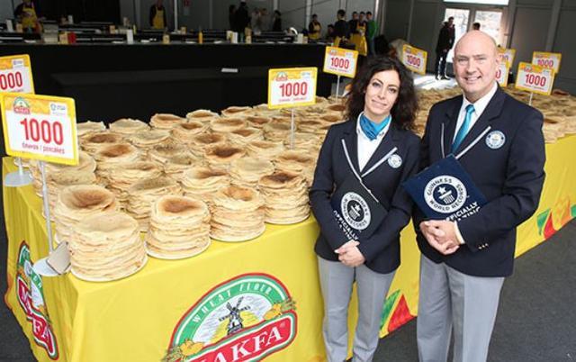 Kwikku, Penyajian Pancake terbesar di dunia Jumlah Pancake yang disajikan mencapai  buah