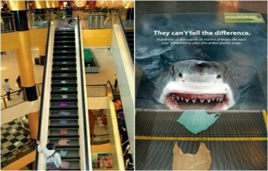 Kwikku, Hatihati jika naik eskalator ini di atas akan ada hiu