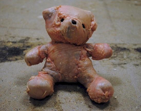 Kwikku, Potongan daging ayam yang di buat seperti boneka