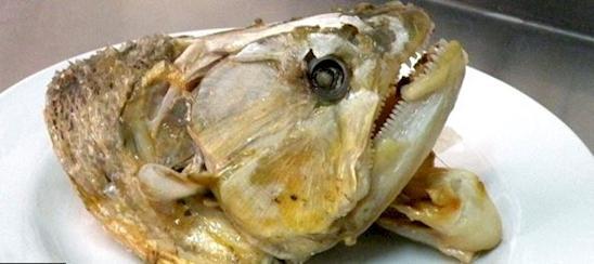 Kwikku, Kepala ikan goreng yang menyeramkan