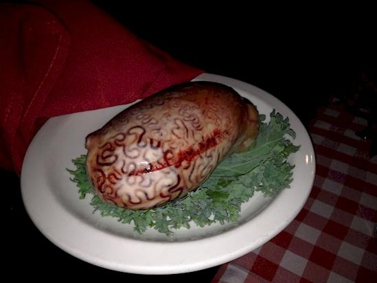 Kwikku, Daging dengan desain otak manusia