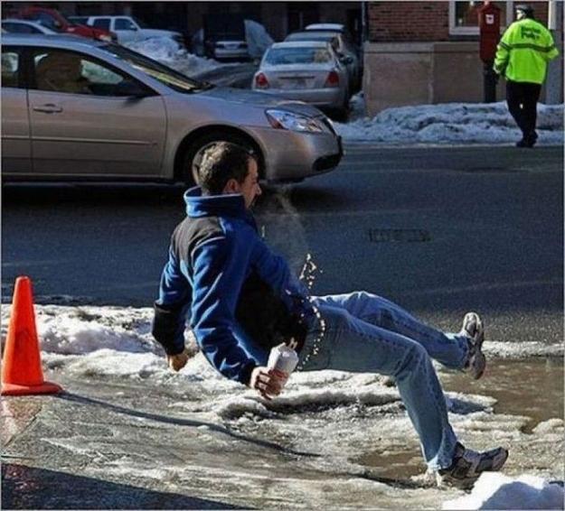 Kwikku, Udah tau jalanan basah ekh malah larilari Kan jadinya malah kepeleset kayak gitu