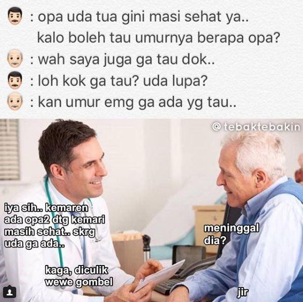 Kwikku, Ternyata dokter dan kakek ini sangat humoris