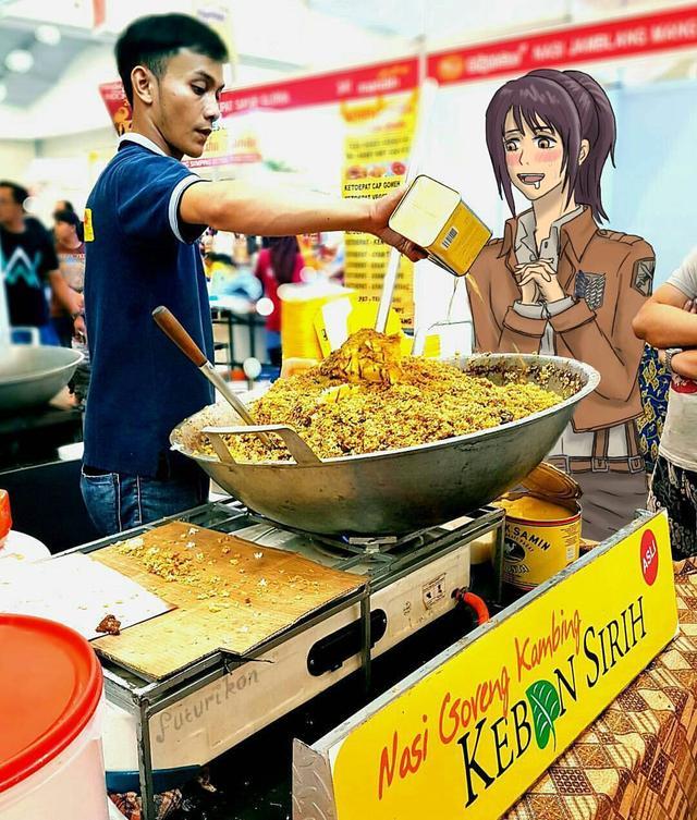 Kwikku, Gak di anime gak di dunia nyata ni orang hobinya emang makan mulu Cuma rasa lapar yang memenuhi fikirannya