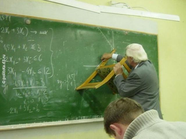 Kwikku, Ketika sang guru gak punya penggaris papan tulis