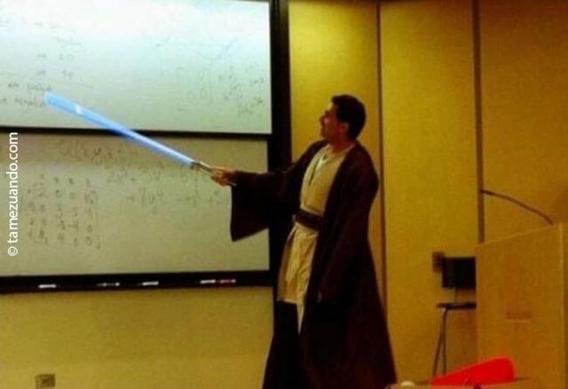 Kwikku, Kayaknya guru yang satu ini memang nge fans banget sama Star Wars