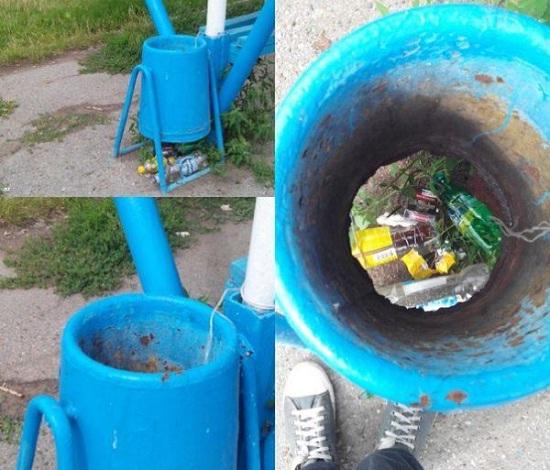 Kwikku, Kalo tautau tempat sampahnya bolong kenapa masih saja tetap buang sampah di situ