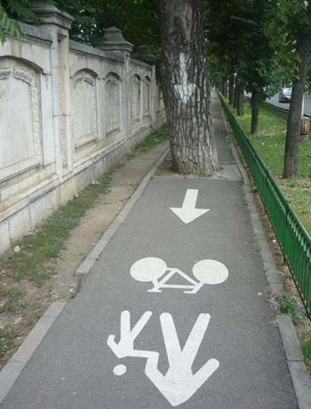 Kwikku, Terus para pengemudi sepeda harus lewat mana
