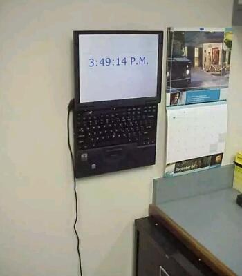 Kwikku, Laptop juga bisa di jadikan sebagai jam dinding serba guna