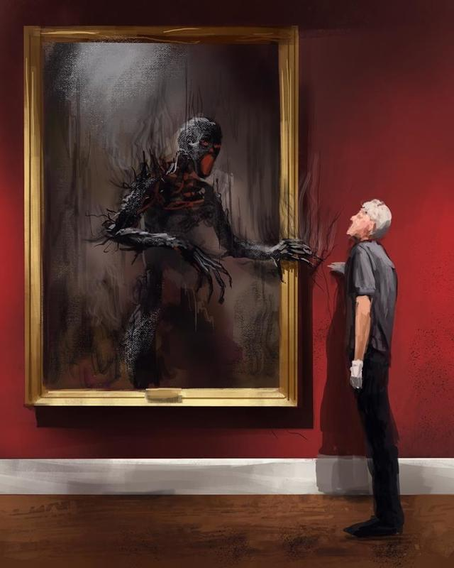 Kwikku, Lukisan bisa saja hidup jika kita memikirkan rasa takut