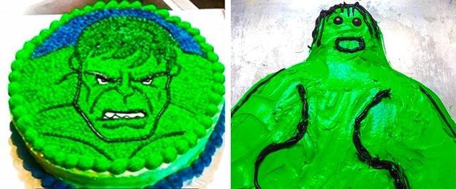 Kwikku, Hulk aja pasti bakalan tepok jidak ketika melihat desain kue yang satu ini