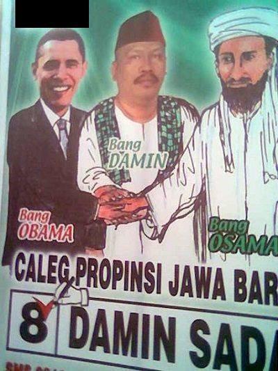 Kwikku, Kirakira maksud Si Bang Damin bawabawa foto Obama dan Osama tuh apa yaa