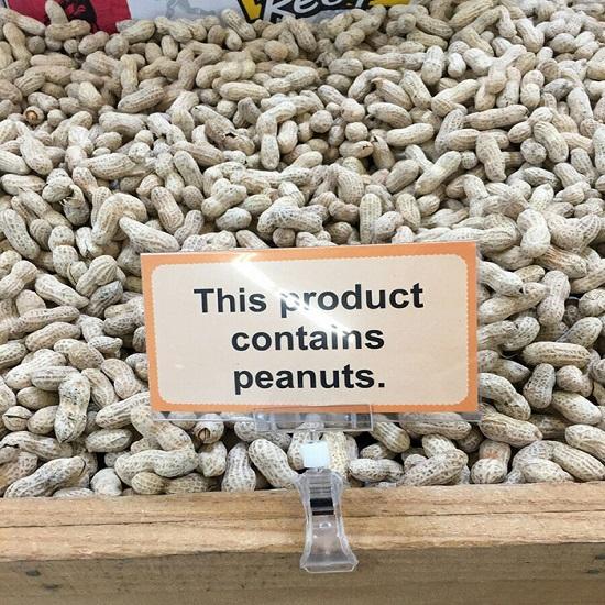Kwikku, Udah jelaslah mengandung kacang ya emang kacang
