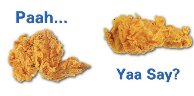 Kwikku, Paha ayam versus sayap ayam