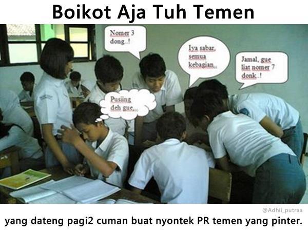 Kwikku, Ini pengalaman nih Pasti kebanyakan anak sekolah pernah mengalami hal yang sama Tetapi kalian di posisi yang mana
