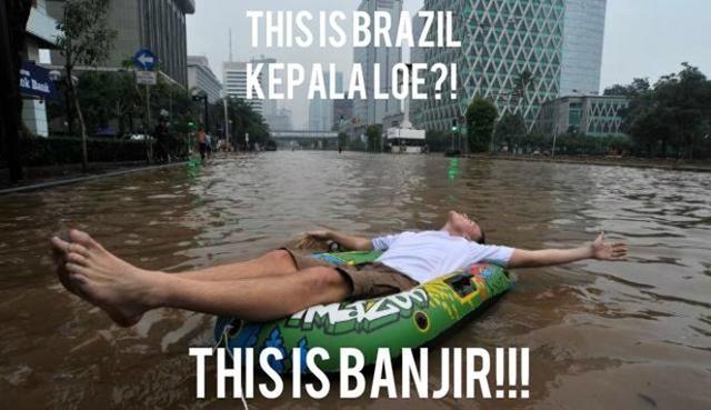 Kwikku, Banjir aja bisa jadi brazil ya wkwkwkwkwk