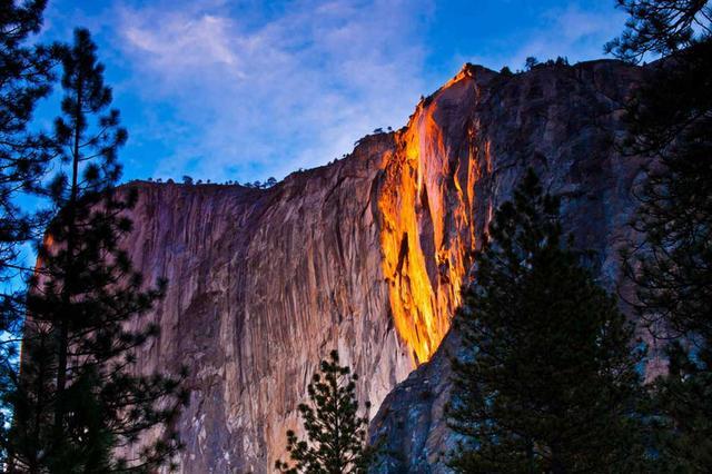 Kwikku, Horsetail Falls Yosemite National Park Amerika Serikat