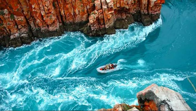 Kwikku, Horizontal Falls yang terletak di kawasan Kimberley Australia Barat